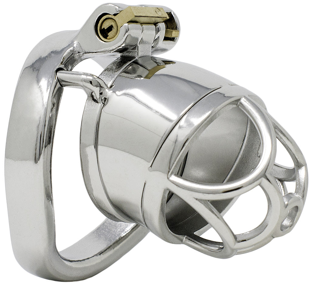 JTS S203 standard chastity device with a curved ring