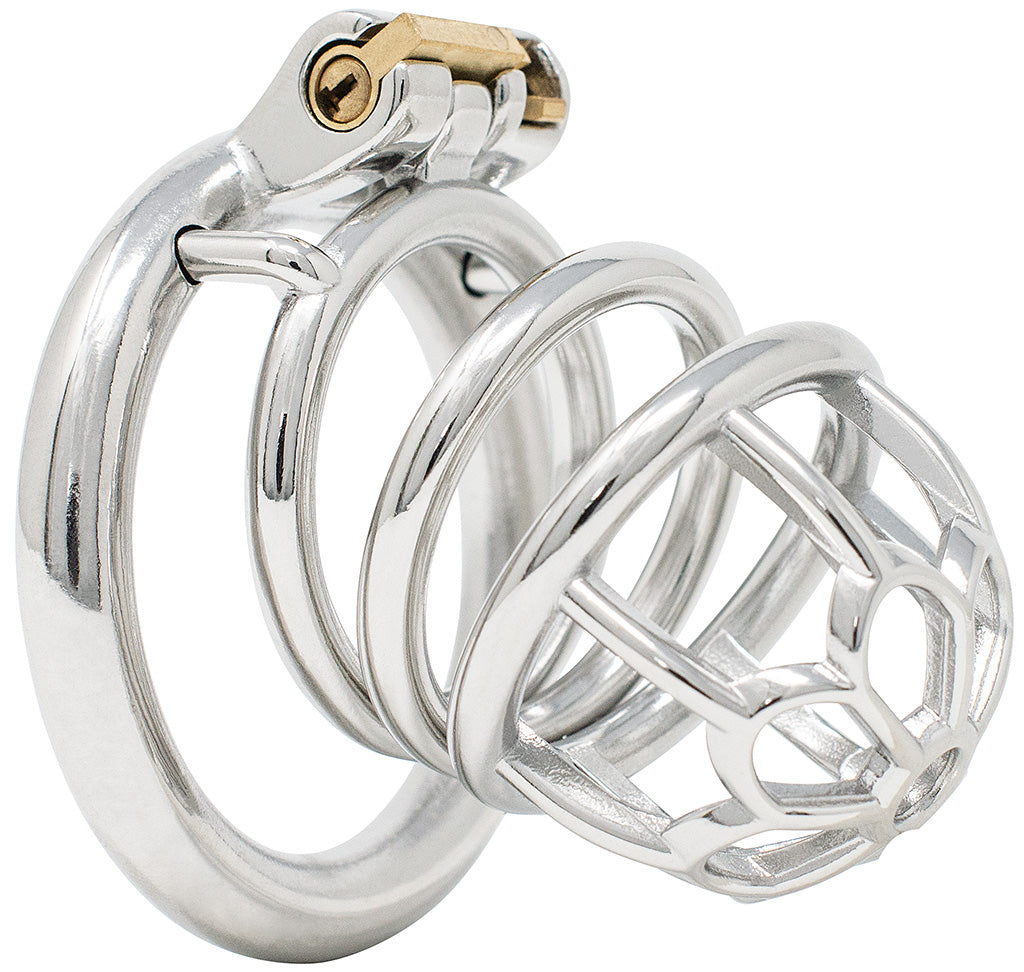 JTS S205 large chastity device with a circular ring