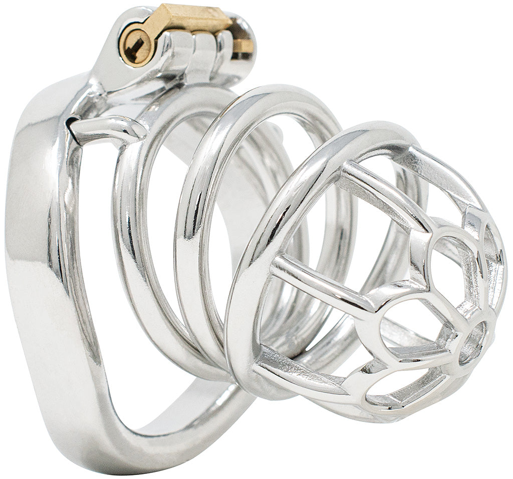 JTS S205 large chastity device with a curved ring