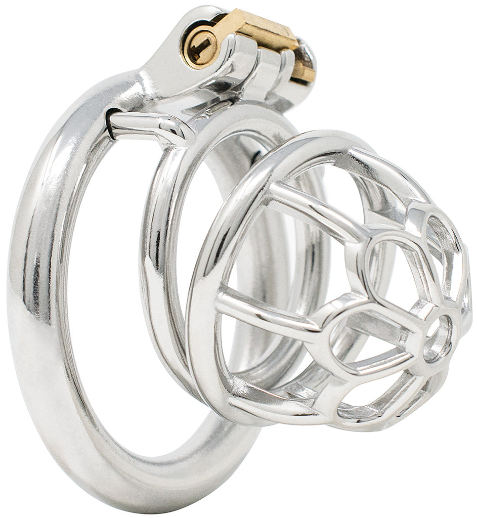 JTS S205 medium chastity device with a circular ring