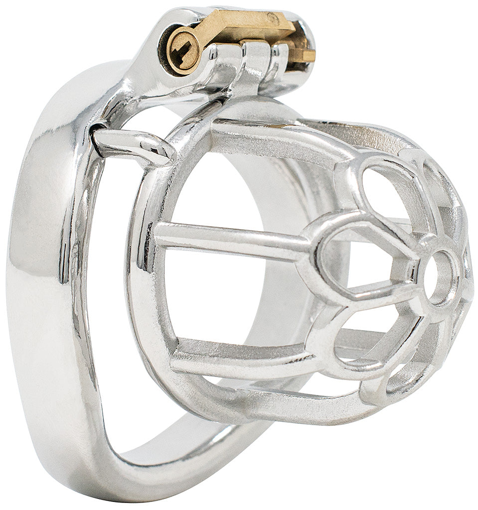 JTS S205 small chastity device with a curved ring