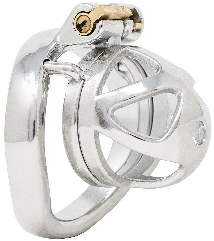 JTS S209 small chastity device with a curved ring