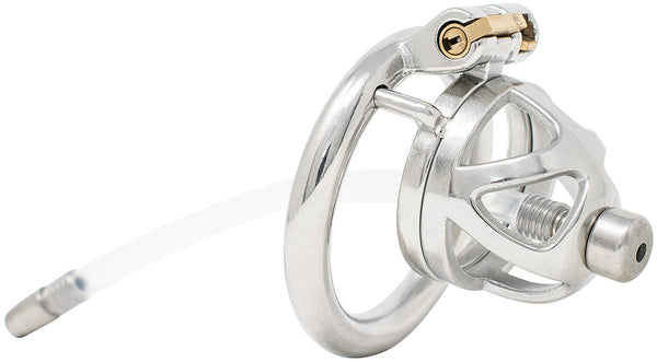 JTS S210 small chastity device with a urethral tube and circular ring