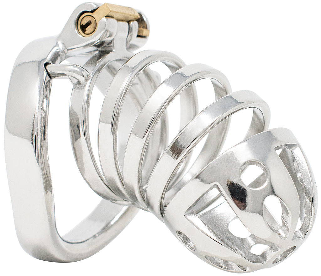 JTS S213 XXL chastity device with a curved ring