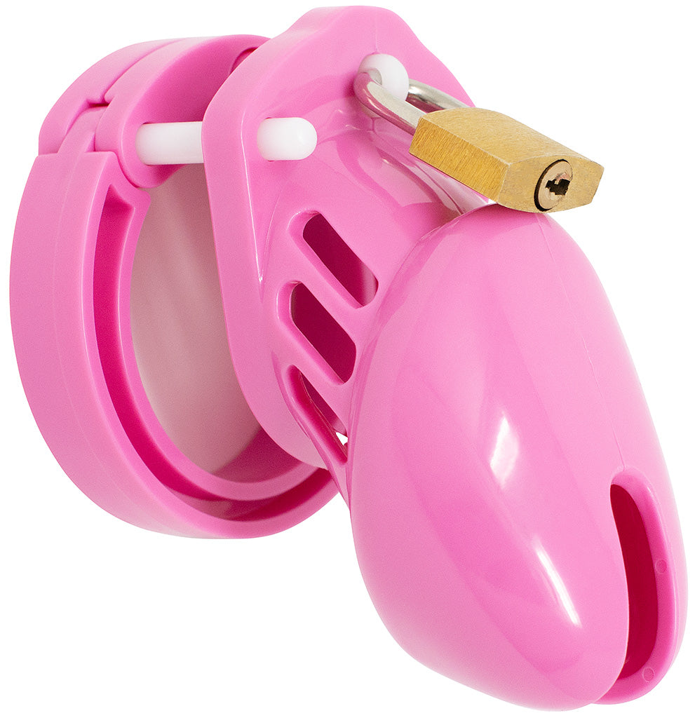 Pink HoD600S small male chastity cage