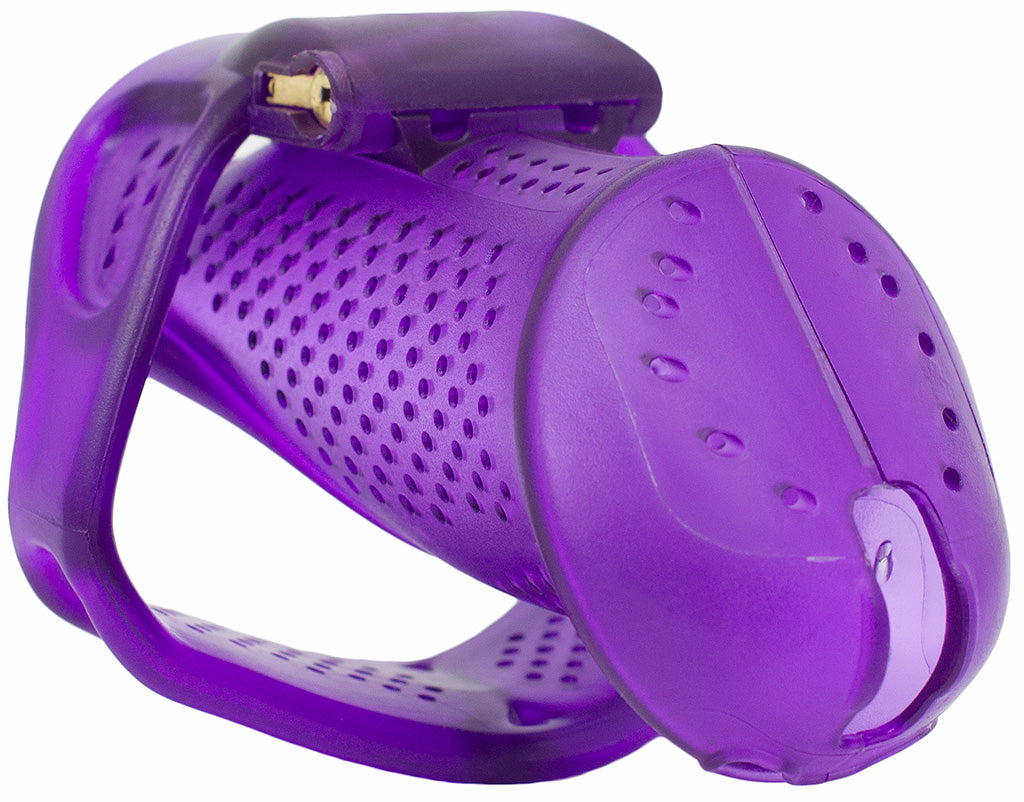 Standard size purple HoD373 male chastity device