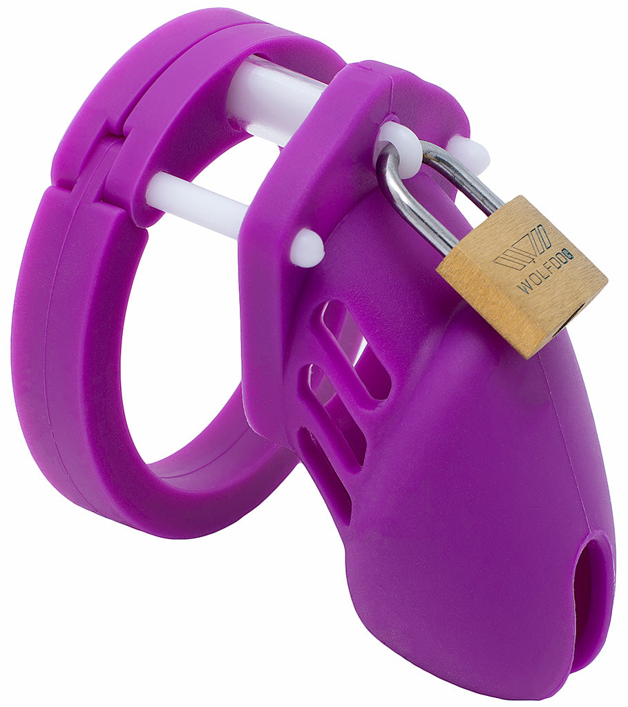 Purple small HoD600S silicone male chastity device