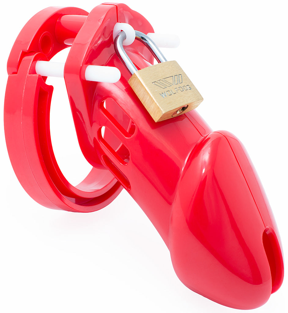 Red HoD600 male chastity device