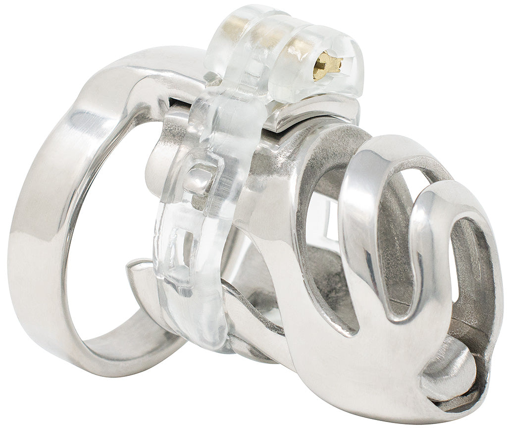Small steel HoD PC1 male chastity device