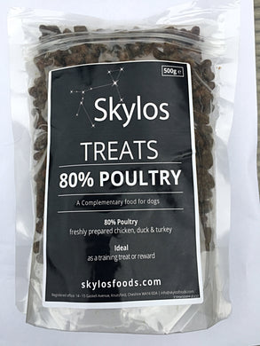 NEW 500g Bag - Grain Free 80% Poultry Dog Treats, 500g For The Price Of 400g....