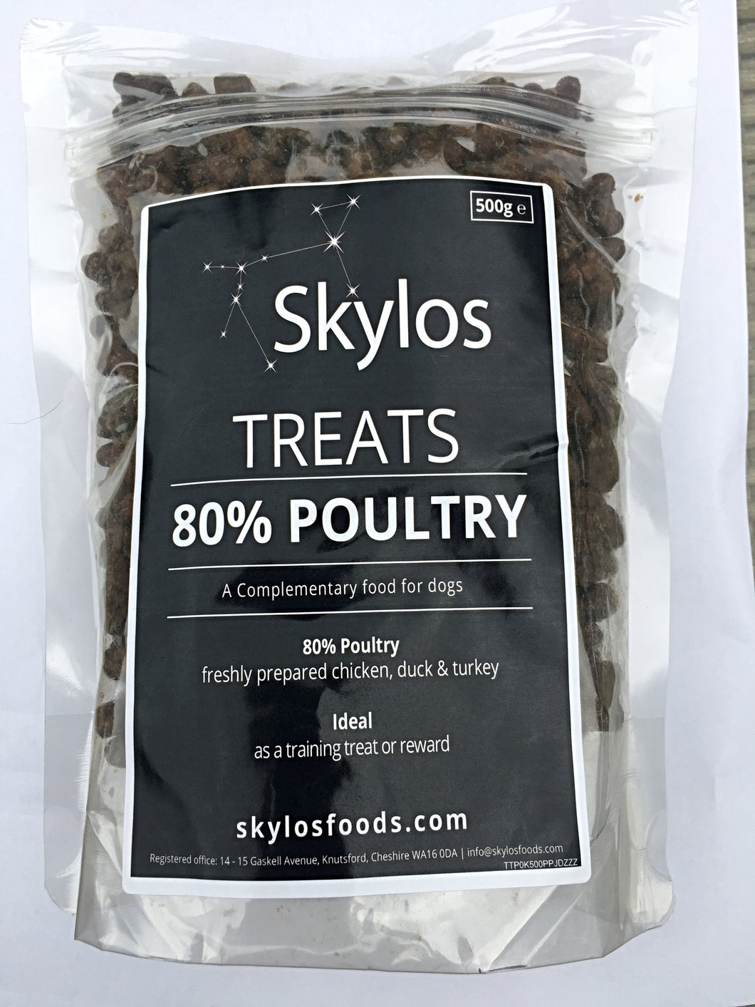 500g Bag - Grain Free 80% Poultry Dog Treats, 500g For The Price Of 400g....