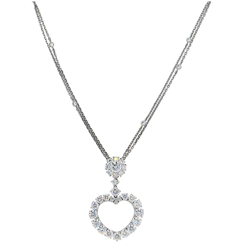 Chopard diamond gold heart pendant necklace fortitude estate jewelry chopard diamond gold heart pendant necklace aloadofball Choice Image