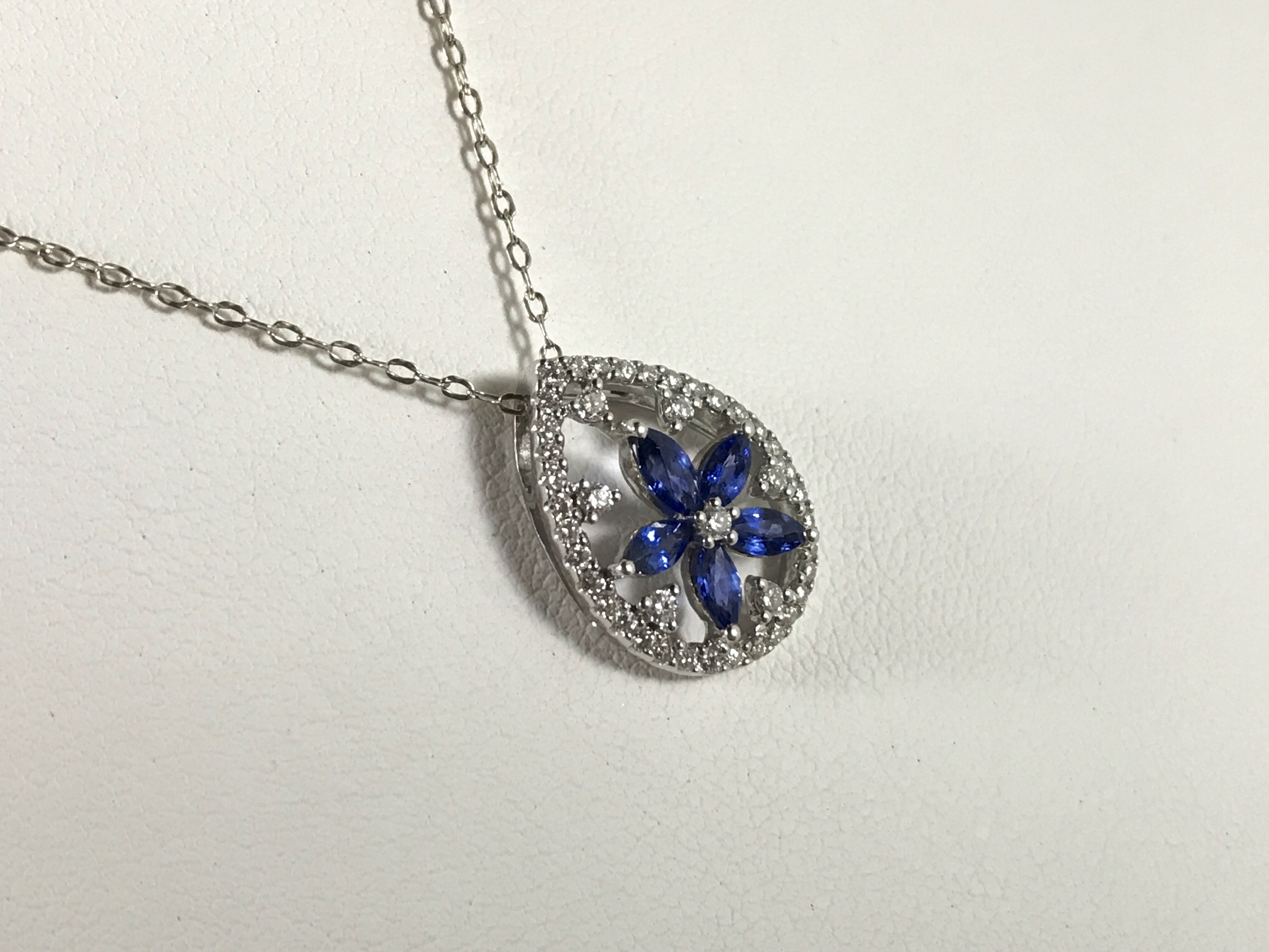 Sapphire and Diamond Necklace and Pendant Fortitude Estate Jewelry
