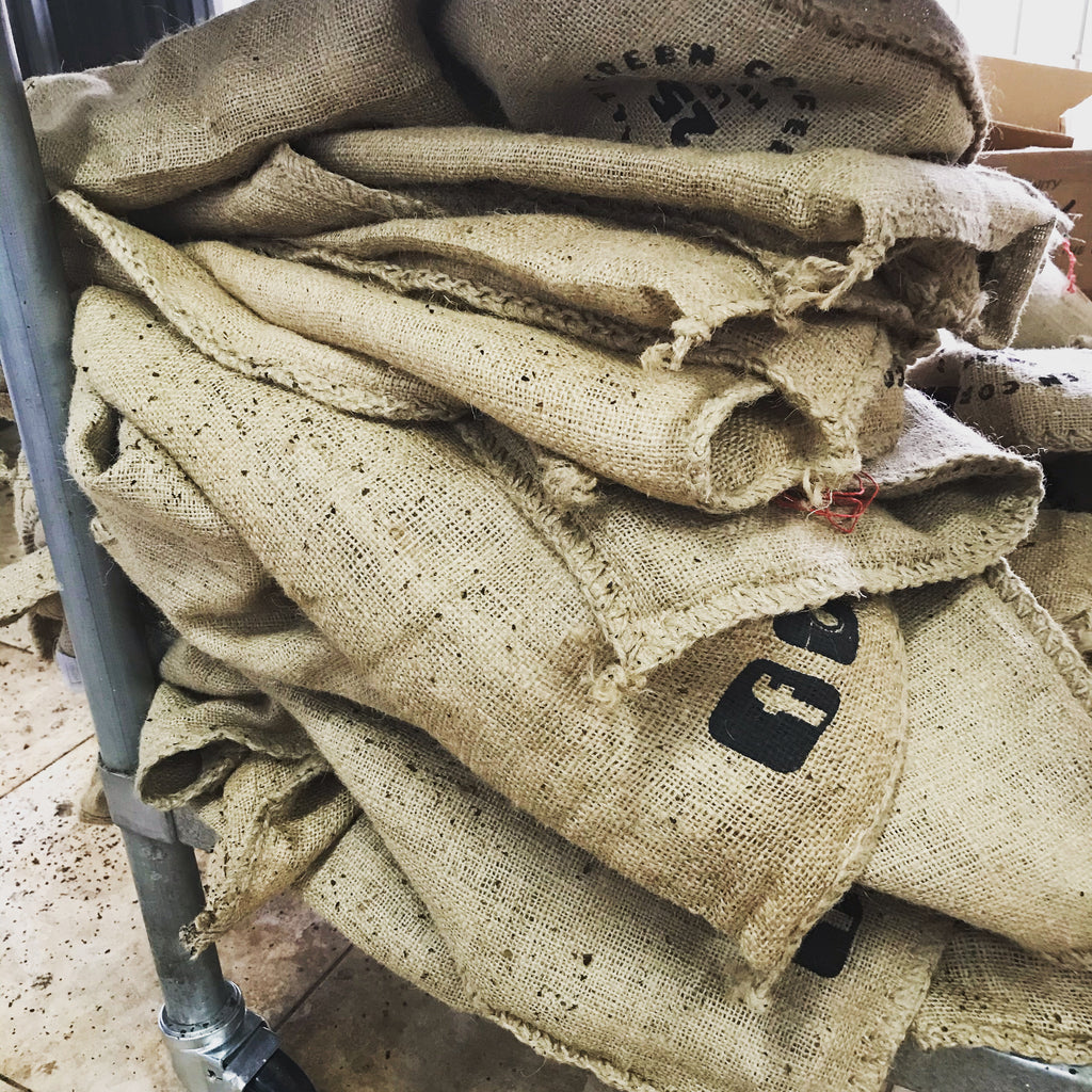 Recycled Coffee Burlap Bags