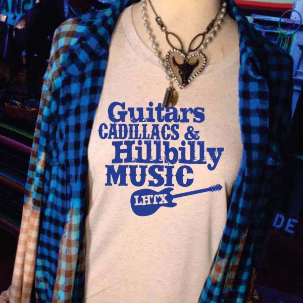 GUITARS, CADILLACS & HILLBILLY MUSIC - BOYFRIEND TEE