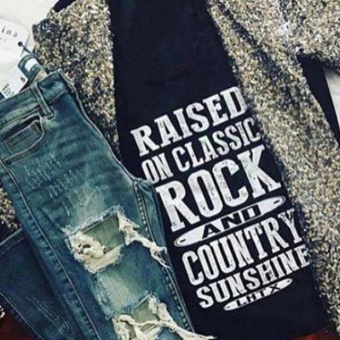 RAISED ON CLASSIC ROCK AND COUNTRY SUNSHINE - VNT