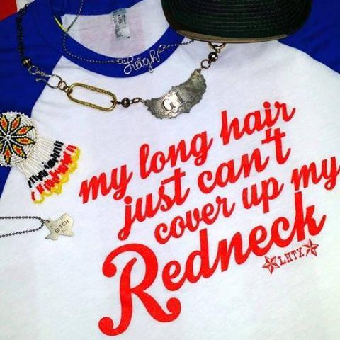 MY LONG HAIR JUST CAN'T COVER UP MY REDNECK - SSCT