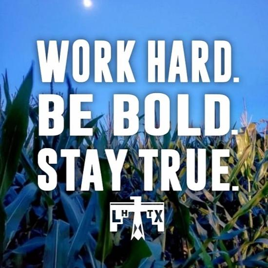WORK HARD. BE BOLD. STAY TRUE. - VNT