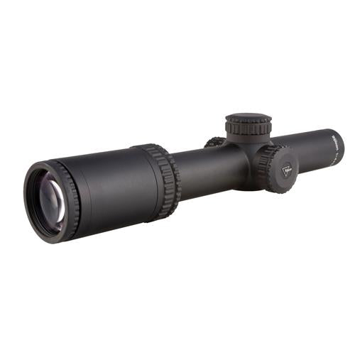 AccuPower 1-4x24mm Riflescope - 30mm Main Tube, Mil-Square Crosshair Reticle with Green LED, Matte Black