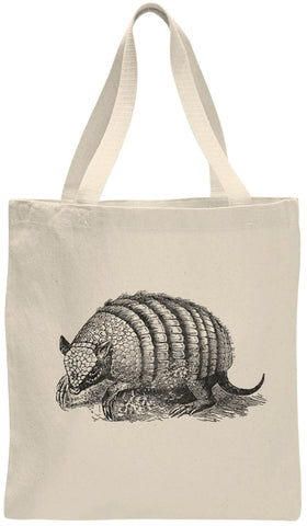 Austin Ink Apparel Texas Armadillo Cotton Canvas Tote Bag