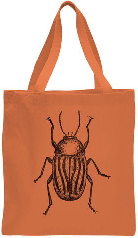 Austin Ink Apparel Striped Beetle Cotton Canvas Tote Bag