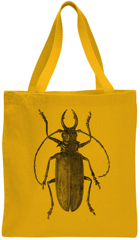 Austin Ink Apparel Egyptian Beetle Cotton Canvas Tote Bag