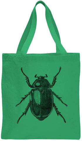 Austin Ink Apparel Large Beetle Cotton Canvas Tote Bag