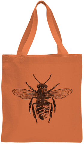 Austin Ink Apparel Honey Bee Cotton Canvas Tote Bag