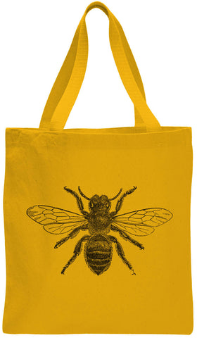 Austin Ink Apparel Fuzzy Bee Cotton Canvas Tote Bag