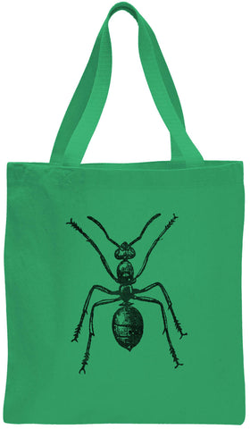 Austin Ink Apparel Red Wood Ant Cotton Canvas Tote Bag
