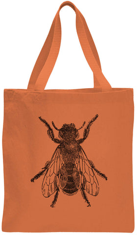 Austin Ink Apparel Bee Illustration Cotton Canvas Tote Bag