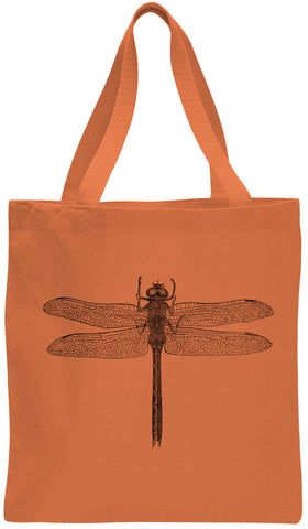 Austin Ink Apparel Wild Dragonfly Cotton Canvas Tote Bag