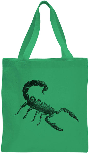 Austin Ink Apparel Angry Scorpion Cotton Canvas Tote Bag