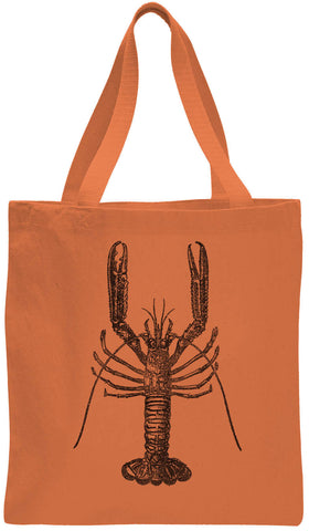 Austin Ink Apparel Skinny Lobster Cotton Canvas Tote Bag