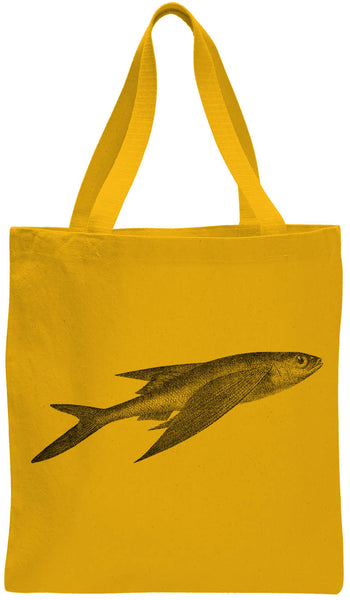Austin Ink Apparel Atlantic Flying Fish Cotton Canvas Tote Bag