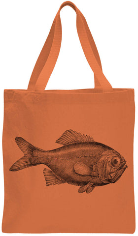 Austin Ink Apparel Ugly Fish Cotton Canvas Tote Bag
