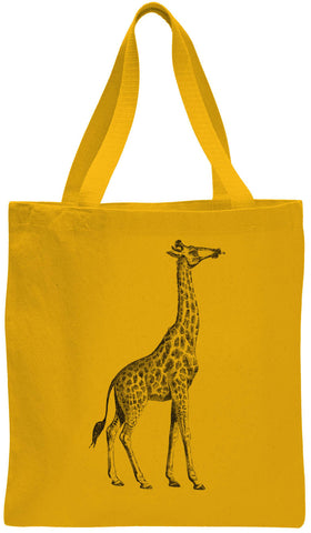 Austin Ink Apparel Proud Giraffe Cotton Canvas Tote Bag