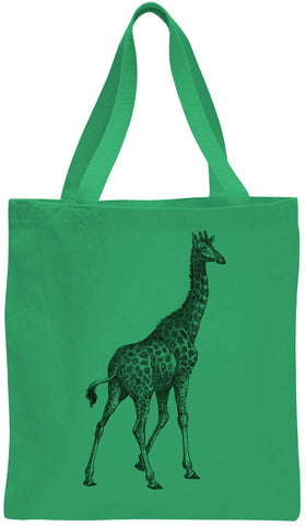 Austin Ink Apparel African Giraffe Cotton Canvas Tote Bag
