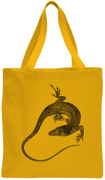 Austin Ink Apparel Anole Lizard Cotton Canvas Tote Bag