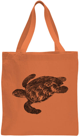 Austin Ink Apparel Hawksbill Turtle Cotton Canvas Tote Bag
