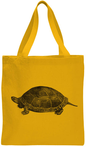 Austin Ink Apparel Painted Turtle Cotton Canvas Tote Bag
