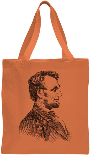 Austin Ink Apparel Abraham Lincoln Cotton Canvas Tote Bag