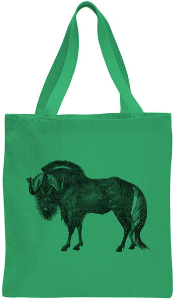 Austin Ink Apparel African Wildebeest Cotton Canvas Tote Bag