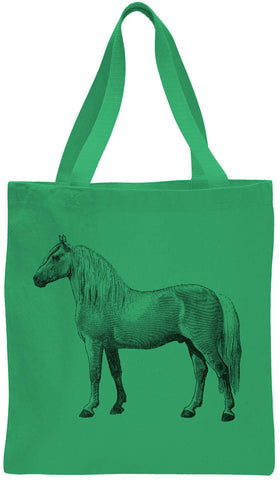 Austin Ink Apparel Albino Horse Cotton Canvas Tote Bag