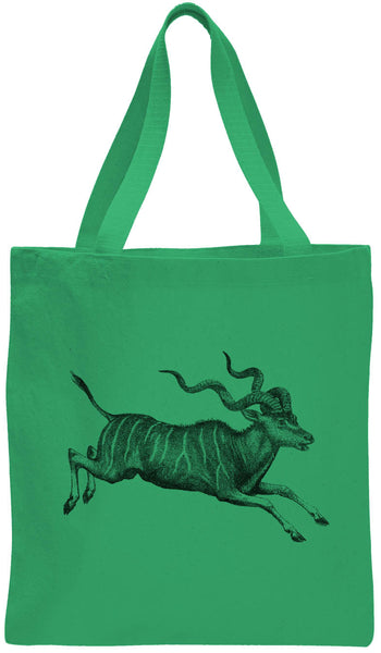 Austin Ink Apparel African Antelope Cotton Canvas Tote Bag