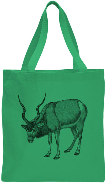 Austin Ink Apparel Antelope Drawing Cotton Canvas Tote Bag