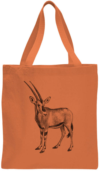 Austin Ink Apparel African Oryx Cotton Canvas Tote Bag