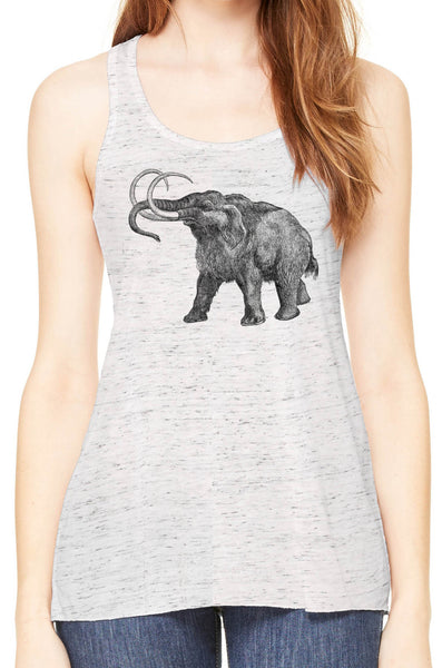 Austin Ink Apparel Ancient Wooly Mammoth Womens Flowy Racerback Tank