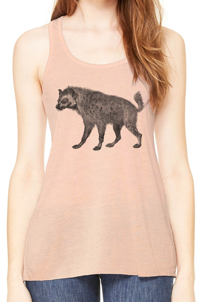 Austin Ink Apparel African Spotted Hyena Womens Flowy Racerback Tank