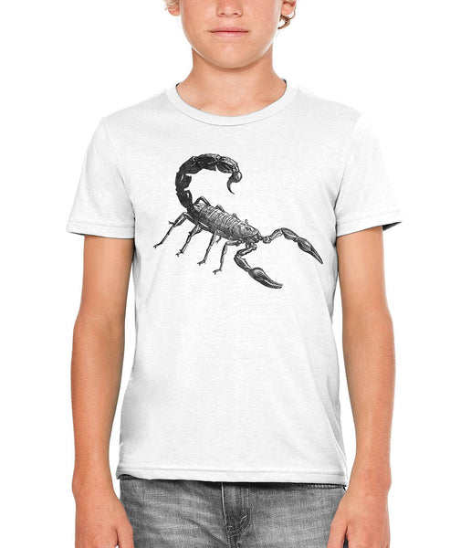 Austin Ink Apparel Angry Scorpion Unisex Kids Short Sleeve Printed T-Shirt